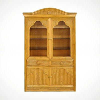 Vintage Dutch Rattan Cabinet, 1970s 1