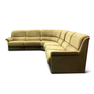 Large Vintage Sectional Green Sofa From