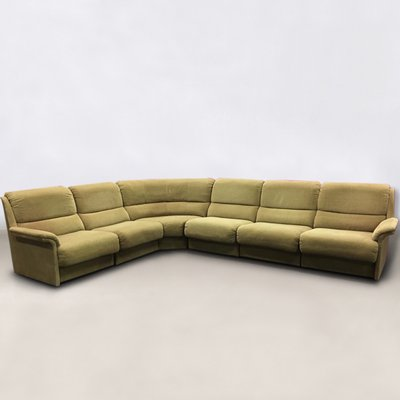 Large Vintage Sectional Green Sofa from Laauser, 1960s for sale at ...