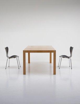 Mesa de comedor minimalista de roble, años 70 en venta en Pamono