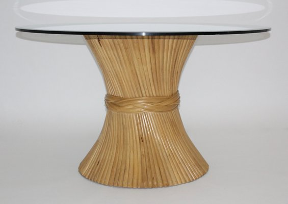 ee2bc21cdfa3 Sheaf of Wheat Bamboo Dining Table from McGuire, 1970s for sale at ...
