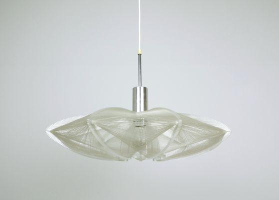 Lampada con fili di nylon di paul secon per sompex anni in