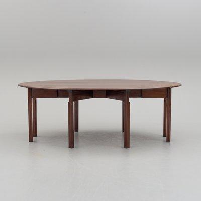 Mesa de comedor abatible vintage grande de caoba de Nordiska ...