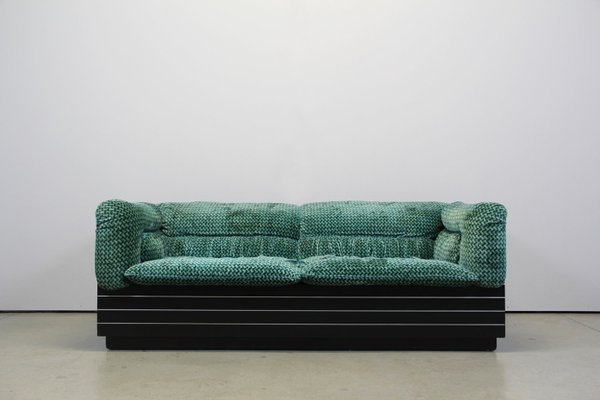 Vintage Italian 2-Seater Sofa & Coffee Table by Giovanni Offredi for ...