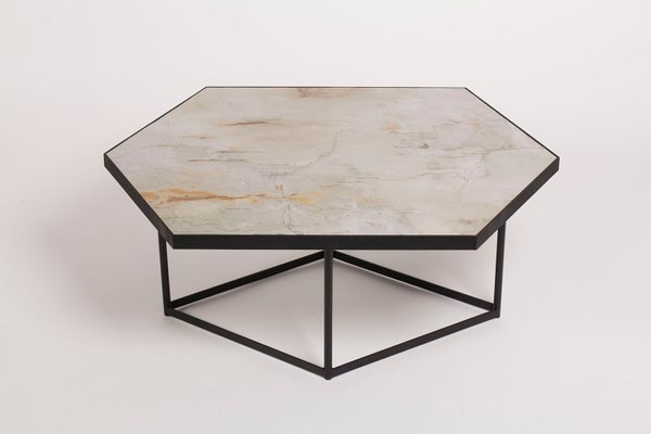Astounding Confluence Coffee Table By Gaspard Graulich In Natural Stone Steel Home Interior And Landscaping Ologienasavecom
