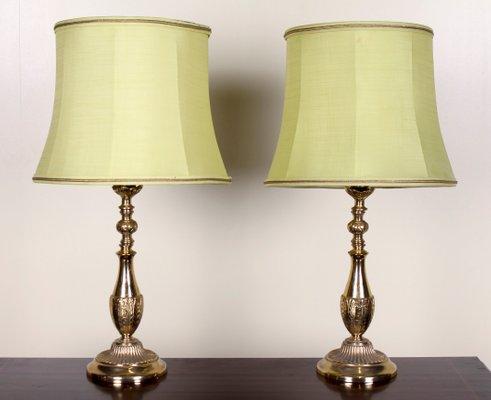 Lampes de bureau vintage en laiton set of en vente sur pamono