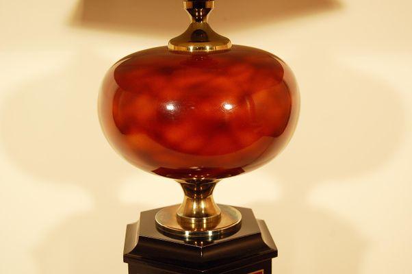 Grande lampe de bureau vintage de maison jansen en vente sur pamono