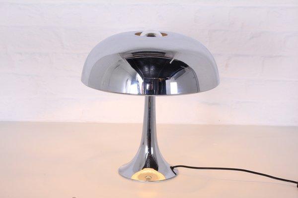 Lampe De Bureau Champignon Vintage En Chrome Par Louis Kalff Pour Philips 1