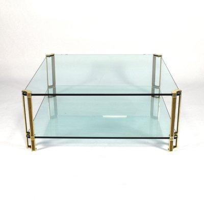 Vintage Dutch Brass U0026 Glass Coffee Table By Peter Ghyczy For Ghyczy