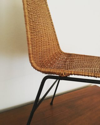 Marvelous Italian Wicker Chair With Steel Frame 1950S Forskolin Free Trial Chair Design Images Forskolin Free Trialorg