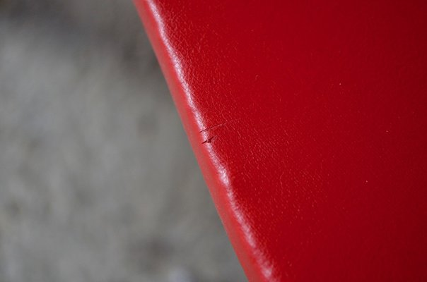 Red Tripod Coffee Table From Steiner 1950s For Sale At Pamono