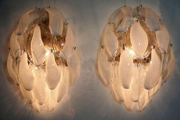 Murano Lampen von La Murrina, 1980er, 2er Set