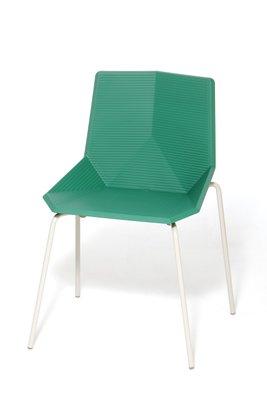 Chaise De Jardin Verte Avec Pieds En Acier Par Mobles114 En Vente
