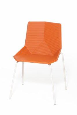 Chaise De Jardin Orange Avec Pieds En Acier Par Mobles114 1