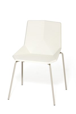 Chaise de Jardin Blanche avec Pieds en Acier par Mobles114