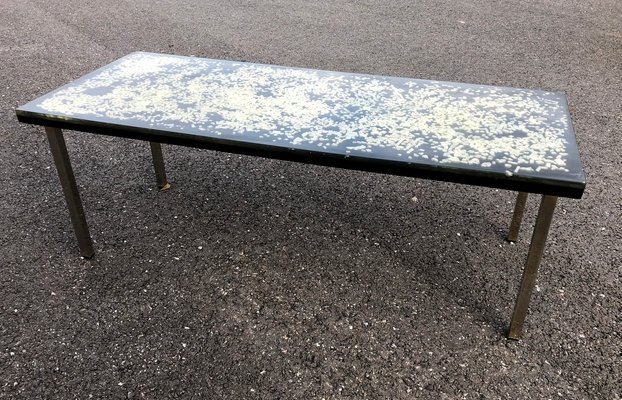 Resin Coffee Table With Inserts By Pierre Giraudon 1970s