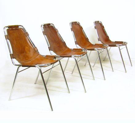 Chaises Les Arcs Par Charlotte Perriand Pour Cassina 1960s Set De 4 2