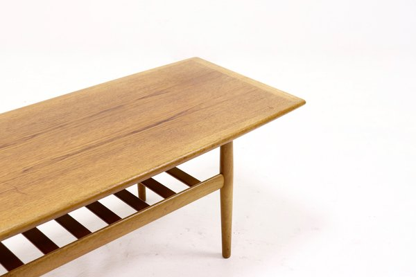 Mid Century Surfboard Coffee Table By Grete Jalk For Glostrup 1960s