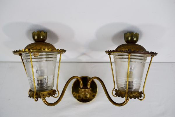 Vintage Italian Wall Lights 1940s Set Of 3 1