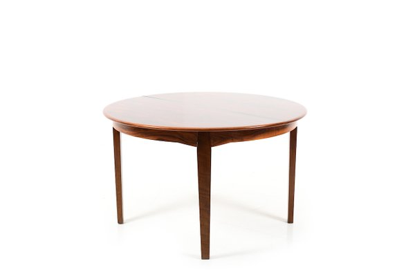 Vintage Round Danish Rosewood Dining Table For Sale At Pamono