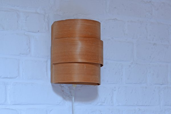 Applique vintage in legno di hans agne jakobsson per markaryd in