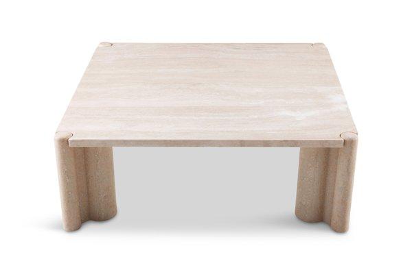 Tavolino Gae Aulenti Prezzo.Tavolino Da Caffe Quadrato In Travertino Di Gae Aulenti 1965