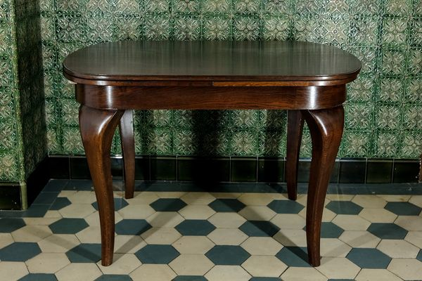 Table De Salle A Manger A Rallonge Artisanale En Palissandre 1940s