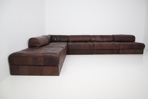 Divani Pelle Marrone Vintage : Divano modulare ds vintage in pelle marrone di de sede in