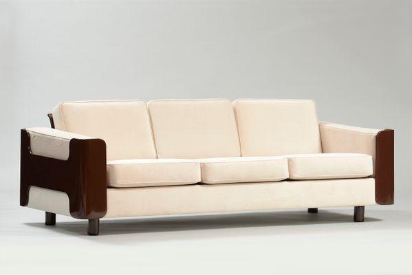 modern lackiertes danisches mid century 3 sitzer sofa 3