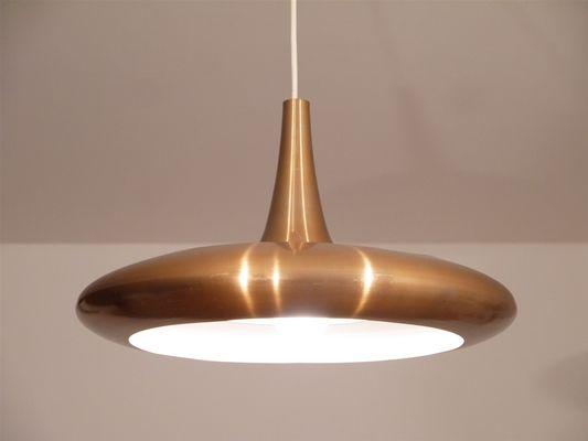 Vintage Danish Copper Pendant Lamp 2