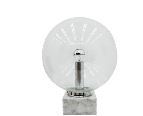 Lampada da tavolo in vetro e marmo di erco anni 70 in vendita su