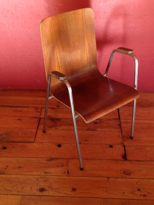 Mid Century Teak Chairs 1960s Set Of 4 Bei Pamono Kaufen