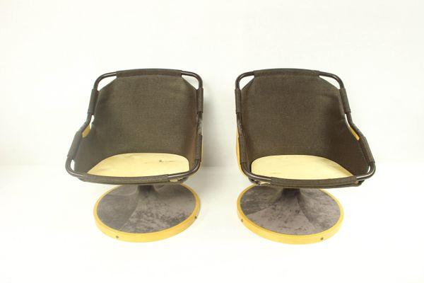 Marvelous Vintage Scandinavian Swivel Chairs From Soda Galvano 1970S Set Of 2 Ibusinesslaw Wood Chair Design Ideas Ibusinesslaworg