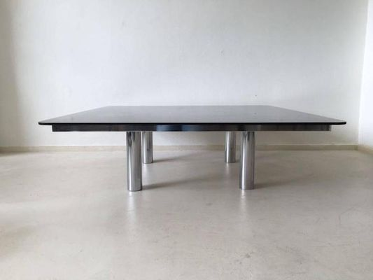 Andre Square Glass Coffee Table By Tobia Scarpa For Gavina 1960s