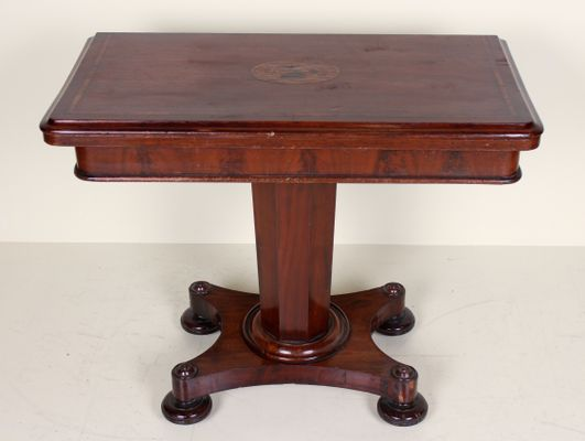 Antique Victorian Mahogany Folding Table Card Table For Sale At Pamono
