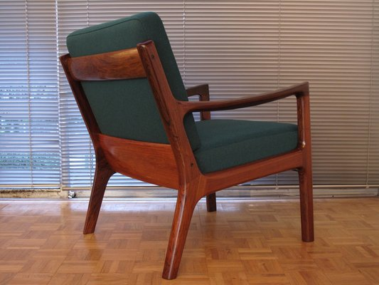 Incredible Senator Chair In Rosewood By Ole Wanscher For France Son 1960S Andrewgaddart Wooden Chair Designs For Living Room Andrewgaddartcom