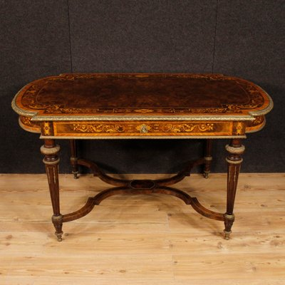 Antique French Inlaid Wood Table, 1880s 1 - Antique French Inlaid Wood Table, 1880s For Sale At Pamono
