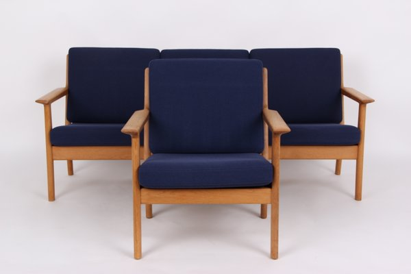 Vintage 3 Seater Sofa and Armchair by Hans J. Wegner for Getama