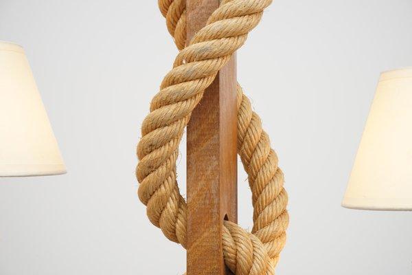Lampadario legno e corda lampadario soffitto design legno corda