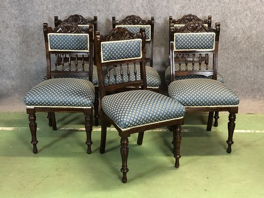 Antique Mahogany Chairs, Set of 6 1 - Antique Mahogany Chairs, Set Of 6 For Sale At Pamono