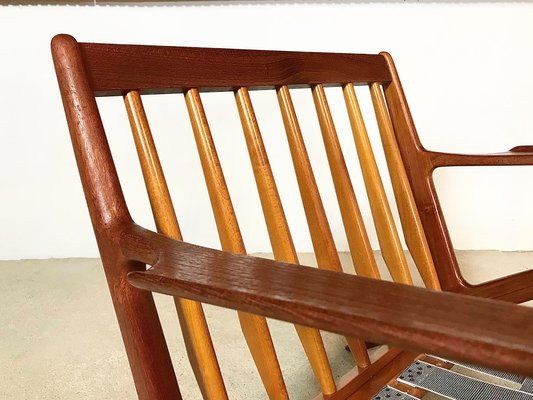 Tremendous Z Chair In Leather Teak By Poul Jensen For Selig 1950S Pabps2019 Chair Design Images Pabps2019Com