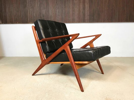 Brilliant Z Chair In Leather Teak By Poul Jensen For Selig 1950S Cjindustries Chair Design For Home Cjindustriesco