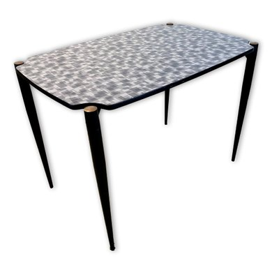 Dining Table With Formica Top Black Metal Legs