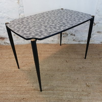 Dining Table With Formica Top U0026 Black Metal Legs, 1950s