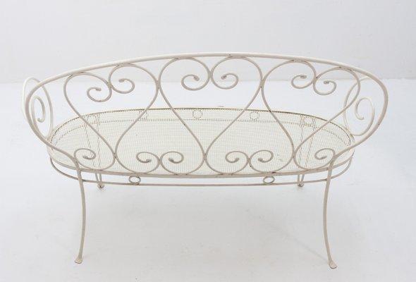 Phenomenal Vintage French Wrought Iron Garden Bench 1957 Theyellowbook Wood Chair Design Ideas Theyellowbookinfo