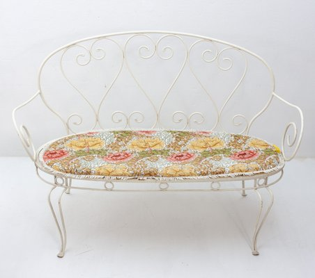 Cool Vintage French Wrought Iron Garden Bench 1957 Caraccident5 Cool Chair Designs And Ideas Caraccident5Info