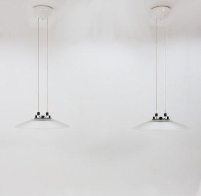 Large Halogen Pendant Lamps From Peil Putzler 1978 Set Of 2