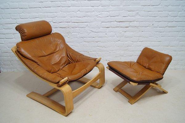 Awesome Cognac Leather Kroken Lounge Chair Ottoman By Ake Fribyter For Nelo Mobel 1970S Short Links Chair Design For Home Short Linksinfo