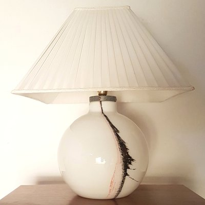 Murano Gl Table Lamp With Illuminated Base 1960s