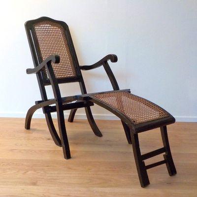 Chaise longue pieghevole, anni \'20 in vendita su Pamono